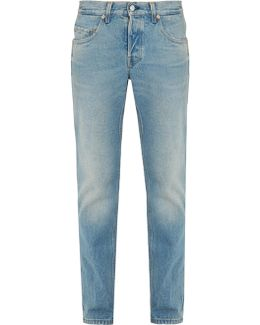 Mid-rise Tapered-leg Jeans