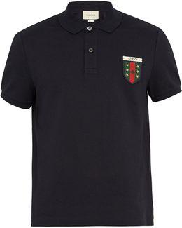 Crest-appliqué Stretch-cotton Polo Shirt