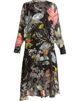 Hayley Floral-print Silk-devoré Dress