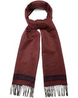 Bi-colour Silk And Cashmere-blend Scarf