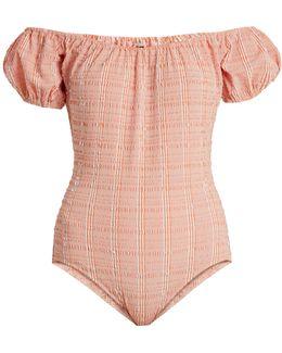 Leandra Gingham Seersucker Swimsuit