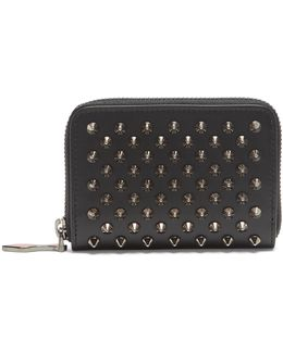 Panettone Spike-embellished Leather Coin Purse