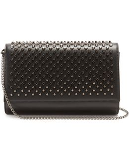 Paloma Spike-embellished Leather Clutch