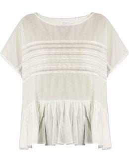Madi Ruffled-hem Cotton-voile Top
