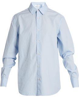 Point-collar Cotton-oxford Shirt