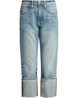 Le Oversized Cuff Mid-rise Jeans