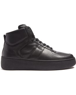 Mm1 High-top Leather Trainers