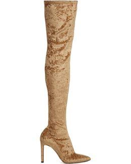 Lorraine Velvet Over-the-knee Boots