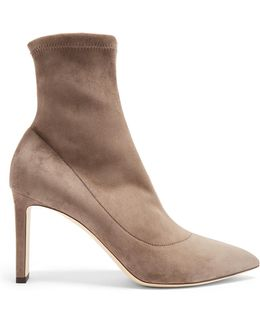 Louella Suede Sock Ankle Boots