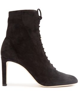 Daize Lace-up Suede Ankle Boots