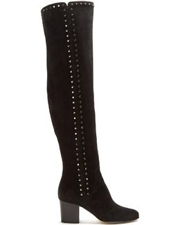 Harlem Stud-embellished Suede Over-the-knee Boots