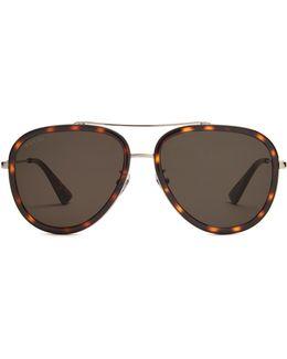 Aviator Tortoiseshell Sunglasses