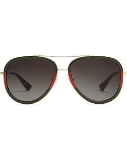 Bi-colour Aviator Sunglasses