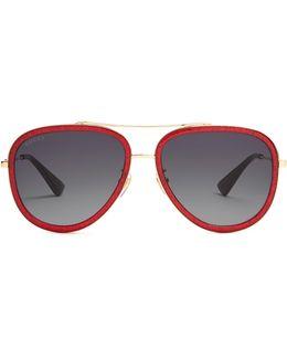 Glitter-acetate Aviator Sunglasses