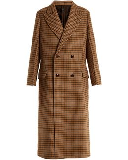 Arlon Hound's-tooth Double-breasted Coat