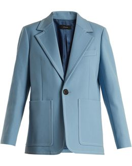 Annab Wool And Cotton-blend Twill Jacket