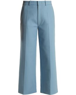 Ferrandi Wide-leg Twill Trousers