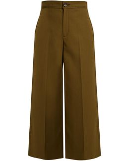 Fitz Wide-leg Wool-blend Cropped Trousers