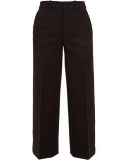 Ferrandi Wide-leg Cropped Wool-blend Trousers