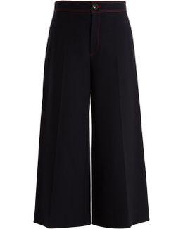 Fitz Wide-leg Twill Trousers