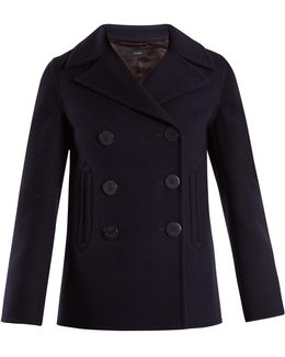 Hector Double-breasted Wool-blend Pea Coat