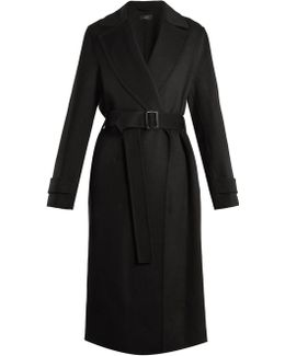 Dale Peak-lapel Cashmere-blend Trench Coat