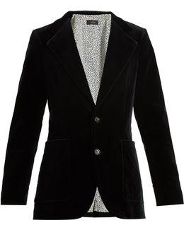 Albert Single-breasted Velvet Jacket