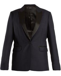 Hampsted Satin-lapel Wool-blend Tuxedo Jacket