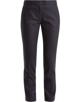 Finley Pinstriped Wool-blend Cropped Trousers
