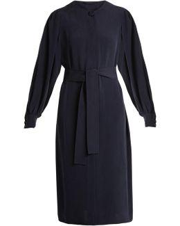 Nola Tie-waist Silk Dress