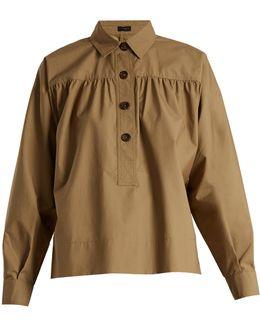 Willow Gathered-yoke Cotton Shirt