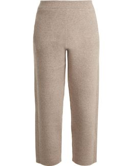 Wide-leg Cropped Wool-blend Trousers