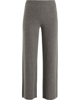 Wide-leg Cashmere Trousers