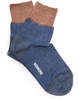 Lamé Ankle Socks