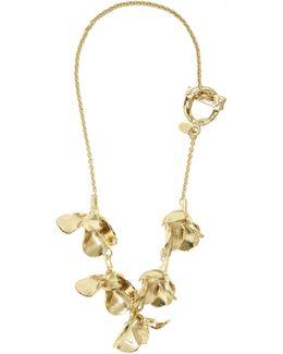 3-d Flower-pendant Necklace