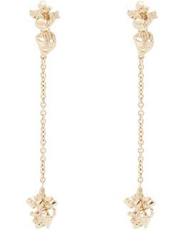 Long Floral-drop Earrings