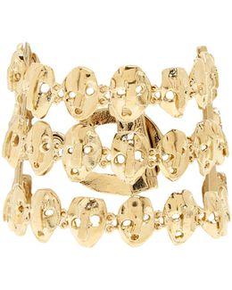 Three Strand Skull-embellished Bracelet