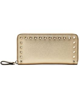 Rockstud Leather Continental Wallet