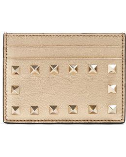 Rockstud Leather Card Holder