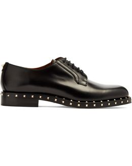 Soul Rockstud Leather Derby Shoes