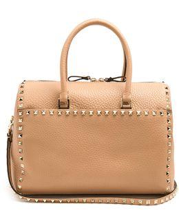 Rockstud Grained-leather Bag