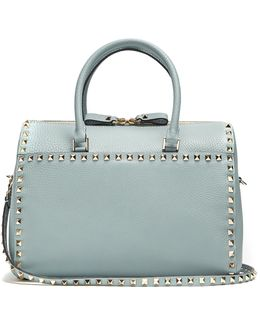 Rockstud Grained-leather Bag