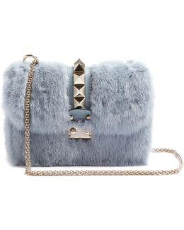 Lock Small Mink-fur Shoulder Bag