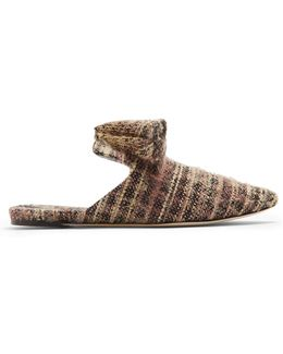 Sanguarina Tweed Slipper Shoes