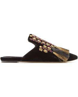 Voltaire Velvet Slipper Shoes