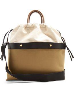 Double Plume Canvas Bag