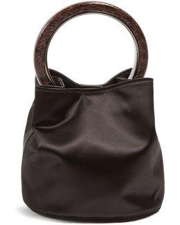 Pannier Small Circle-handle Satin Bag