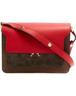 Trunk Medium Leather And Suede Shoulder Bag