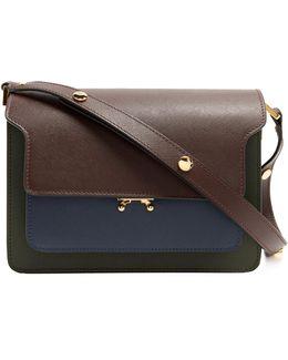 Trunk Medium Saffiano Leather Shoulder Bag