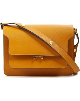 Medium Trunk Saffiano Leather Bag